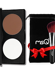 cheap -MSQ® 2 Highlighters/Bronzers Matte Powder Concealer + 2 Makeup Brushes With Comtic Bag Face White / Auburn CHINA MSQ