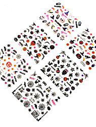cheap -12pcs halloween spider network places 3d nail decals accessories environmental beijiao