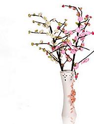1 Une succursale Polyester Plastique Cerisier du Japon Arbre de Noël Fleurs artificielles 110(43.3'')
