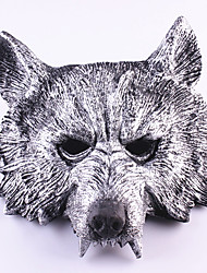 cheap -Halloween Mask Masquerade Mask Wolf Head Horror Rubber 1pcs Pieces Adults' Gift