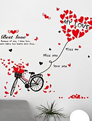 cheap -Romance Words & Quotes Transportation Wall Stickers Plane Wall Stickers Decorative Wall Stickers Photo Stickers, Vinyl Home Decoration
