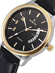 cheap -Relogio Masculino Original North New Brand Men Watch Leather Quartz Watches Men Military Watch Male Clock