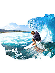 cheap -3D Fashion Surfing Sport 3D Wall Stickers Removable Living Room Bedroom Wall Decals
