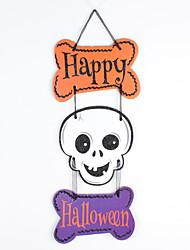 Недорогие -1шт Хэллоуин фантом череп тыквы три повесить украшения