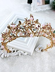 cheap -Imitation Pearl Rhinestone Alloy Tiaras Headwear with Floral 1pc Wedding Special Occasion Casual Headpiece