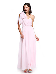 cheap -A-Line Sweetheart Ankle Length Chiffon Bridesmaid Dress with Criss Cross by LAN TING BRIDE®