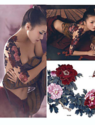 Chinese Wind Peony Large Tattoo Stickers Decals
