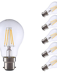 5W B22 LED Filament Bulbs A60(A19) 4 COB 400 lm Warm White 2700 K Decorative V