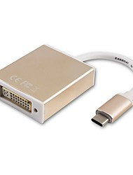 Недорогие -USB 3.1 Type C USB 3.1 Type C to DVI 0.18m (0.6Ft)