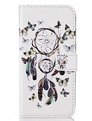 cheap -Case For Apple iPhone 5 Case iPhone 6 iPhone 7 Card Holder Wallet with Stand Flip Pattern Full Body Cases Dream Catcher Hard PU Leather