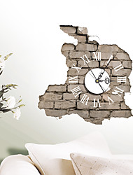 Modern/Contemporary Houses 3D Wall Clock Wall Indoor Creative Clock