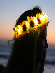 Sunflower Led Light Up Flower CrownFloral HeadbandLight Up Flower CrownHeadband Coachella  Halloween