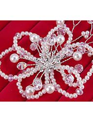 Veli da sposa 1 strato Accessori per capelli con velo Bordo in perle Tulle