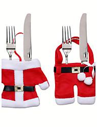 jul bordpynt kniv og gaffel taske jul bestik sæt små tøj Weihnachten Dekoration gaver