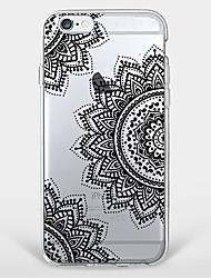 economico -Per Fantasia/disegno Custodia Custodia posteriore Custodia Fiori Mandala Morbido TPU AppleiPhone 7 Plus / iPhone 7 / iPhone 6s Plus/6