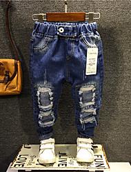 economico -Jeans Da ragazzo Casual Cotone Tinta unita Primavera