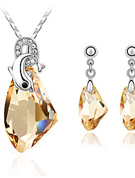 cheap -Women's Crystal Jewelry Set - Fashion Include Purple / Yellow / Navy For Daily / Earrings / Necklace