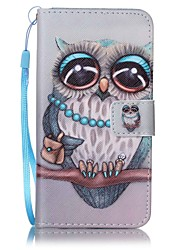 cheap -For Samsung Galaxy J7 (2016) J5 (2016) Card Holder Wallet Case Full Body Case Owl Hard PU Leather J5 J3 J3 (2016)