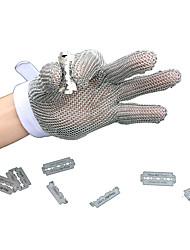 luvas resistentes pequeno tamanho de cinco dedos de corte de aço inoxidável
