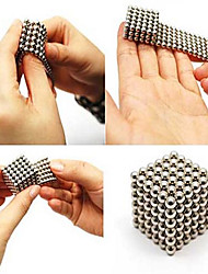 cheap -216PCS 3MM Silver DIY Magnetic Balls Sphere Bead Magic Cube Magnet Puzzle Building Block Education Toy