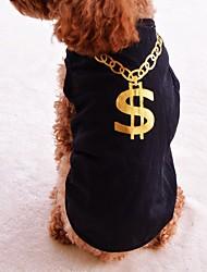 preiswerte -Katze Hund T-shirt Hundekleidung Buchstabe & Nummer Schwarz Purpur Rose Baumwolle Kostüm Für Haustiere Herrn Damen Modisch