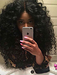 cheap -Synthetic Lace Front Wig Curly Heat Resistant African American Wig Middle Part Natural Hairline Black Women's Lace Front Carnival Wig