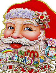 1Pair Christmas Decorations Stereo Double-sided Stickers 40*32CM Pattern Is Random