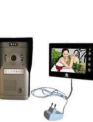 800*480 120 CMOS campanello sistema Con fili Multifamiliare campanello video