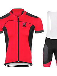 cheap -Sports Cycling Jersey with Bib Shorts Men's Short SleeveBreathable  Quick Dry  Anatomic Design