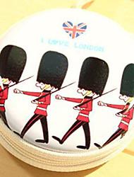 soldados britânicos curso dos desenhos animados do metal mudar auscultadores caixa de armazenamento (cor aleatória)