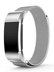 Недорогие -Черный / Роуз / Золотистый / Серебристый Нержавеющая сталь Спортивный ремешок / Миланский ремешок Для Fitbit Смотреть 20мм