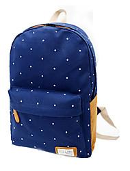 Women Bags All Seasons Canvas Backpack for Casual Outdoor Dark Blue Fuchsia Green Blue Watermelon