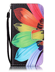 abordables -Funda Para Apple iPhone 7 / iPhone 6 / Funda iPhone 5 Cartera / Soporte de Coche / con Soporte Funda de Cuerpo Entero Flor Dura Cuero de PU para iPhone 7 Plus / iPhone 7 / iPhone 6s Plus