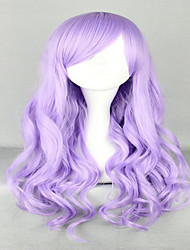 cheap -Fashion 70cm Long Wave Classical Purple Synthetic High Quality Women Party Cosplay Lolita Wig