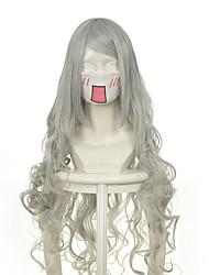 Недорогие -Парики из искусственных волос / Маскарадные парики Волнистый Отбеливатель Blonde Искусственные волосы Жен. Парик Длинные / Очень длинный Без шапочки-основы