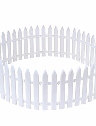 cheap -10pcs/lot Christmas Tree Fence Decoration White Plastic Fence Christmas Railings Christmas Decoration Props