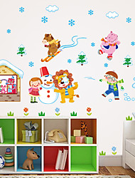 cheap -Christmas Home Decor Wall Stickers Funny Party Kids Gift Sticker Shop Store Window