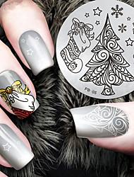 2016 Latest Version Fashion Christmas Tree Pattern Nail Art Stamping Image Template Plates