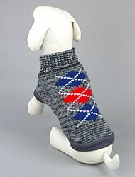 preiswerte -Katze Hund Pullover Hundekleidung Lässig/Alltäglich Geometrisch Grau Rosa Kostüm Für Haustiere