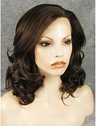 billige -Syntetiske parykker Bølget Syntetisk hår Brun Paryk Blonde Front