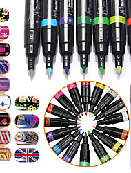 cheap -1Pcs Nail Art Kits Nail Art 3D Nail Painting Pen Dotted Pen Painting Flowers Pen Manicure Tool Kit  Makeup Cosmetic Nail Art DIY