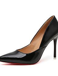 Women's Heels Fall Winter Comfort PU Casual Low Heel Black Silver Gold Beige