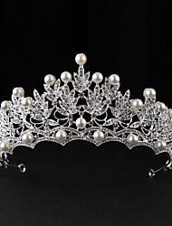 Imitation Pearl Alloy Tiaras Headpiece
