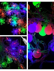 48-LED 4M Star Light Waterproof  Plug Outdoor Christmas Holiday Decoration Light LED String Light