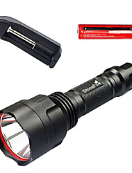 LED Flashlights/Torch LED Other Lumens 1 Mode LED Yes Adjustable Focus Nonslip grip Waterproof Emergency for Camping/Hiking/Caving