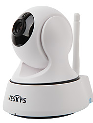 cheap -VESKYS T1 1.0 MP Indoor with IR-cut Prime 64(Day Night Motion Detection Dual Stream Remote Access Plug and play IR-cut) IP Camera