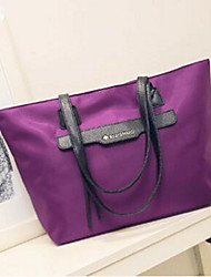 Women Bags Oxford Cloth Tote with for Casual Black Purple Red Blue