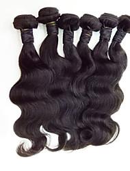6Pcs/Lot  Mix Size 8-30inch Malaysia Virgin Straight Hair Natural Black Human Hair Weave