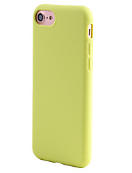 billige -For iPhone 7 etui iPhone 6 etui iPhone 5 etui Stødsikker Etui Bagcover Etui Helfarve Blødt TPU for AppleiPhone 7 Plus iPhone 7 iPhone 6s