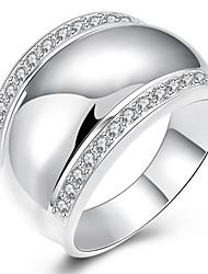 preiswerte -Ringe Hochzeit / Party / Alltag / Normal Schmuck Kupfer / versilbert Damen Ring 1 Stück,8 / 9 / 10 Silber